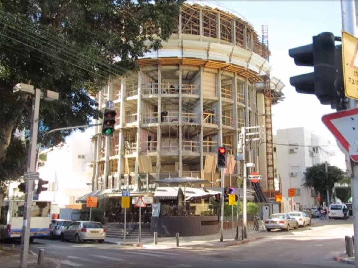 רוטשילד 65 תל אביב - עיגון קירות מסך עם בורג בטון בהברגה ישירה BT