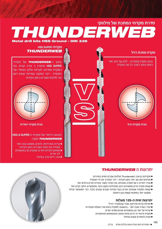 מקדח מתכת Thunderweb HSS