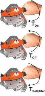 שיטה On-Off-On לבדיקת כוח המהדק בין בורג לאום