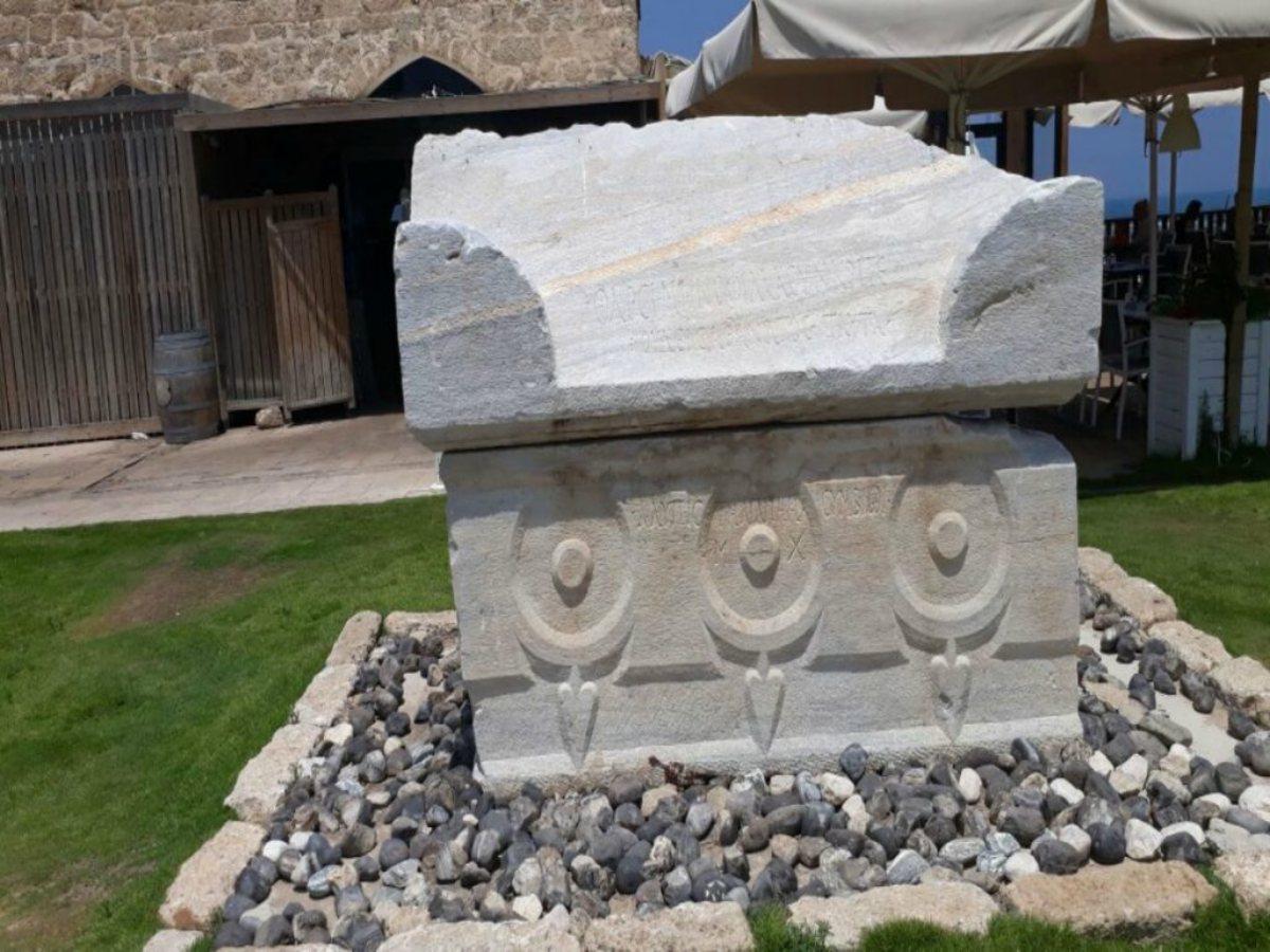 עתיקות קיסריה - עוגן כימי דבק AC100Pro לחיבור קוצים ואבנים על יד הים