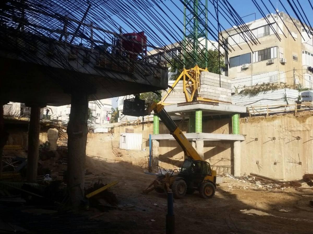 בית חולים אסותא תל אביב - חיזוק מבנה עם עוגן דבק כימי AC100Pro