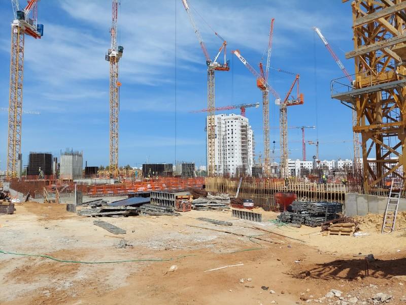 פרויקט עיר היין אשקלון - עיגון כימי וברגי בטון של חברת אדיט בע''מ